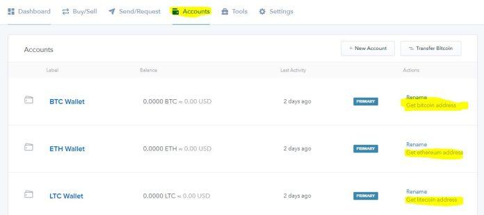 dia chi vi chinh coinbase bitcoin ether litecoin Coinbase là gì ? Hướng dẫn tạo ví Coinbase để cất BTC, ETH, LTC