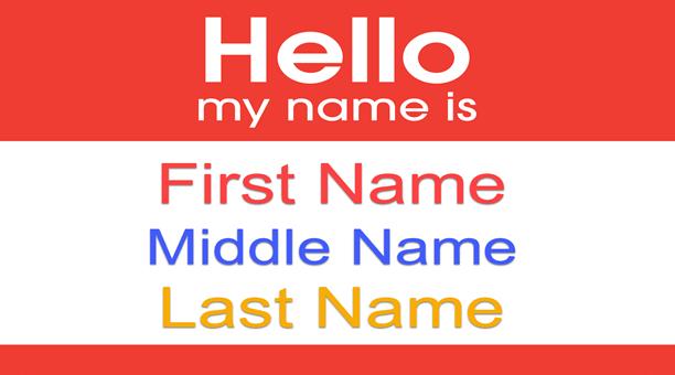 word image First name là gì? Surname name là gì? Last name là gì?