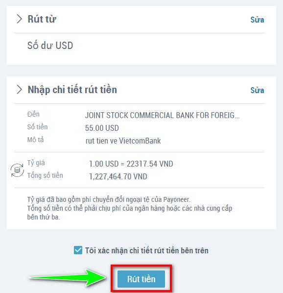 rut tien tu payoneer ve viet nam 1 Payoneer là gì? Cách đăng ký tạo tài khoản, xác minh và rút tiền từ Payoneer về Việt Nam 2021