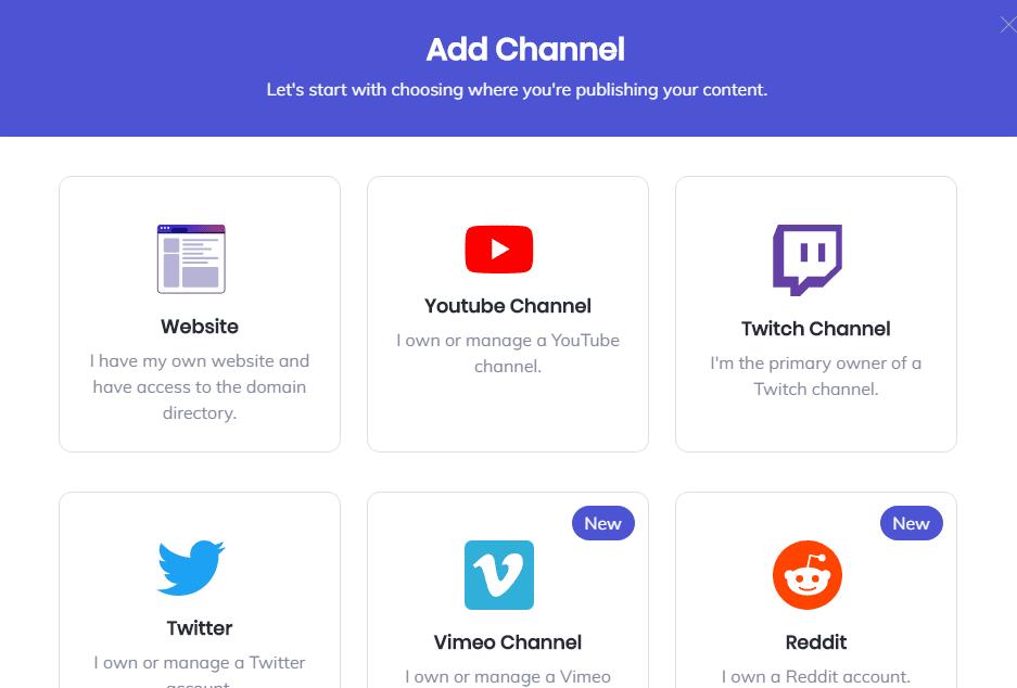 choose channel brave creators