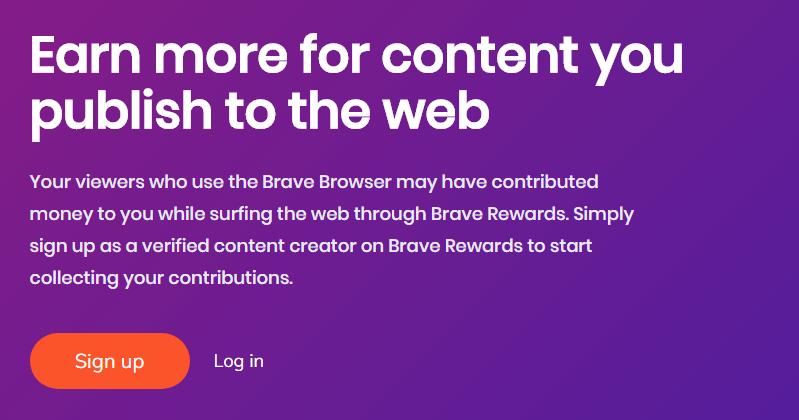 đăng ký publisher brave