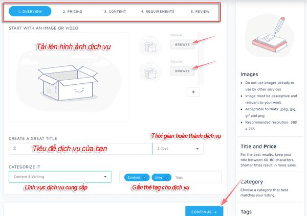 hướng dẫn kiếm tiền bằng cách bán dịch vụ trên seoclerk