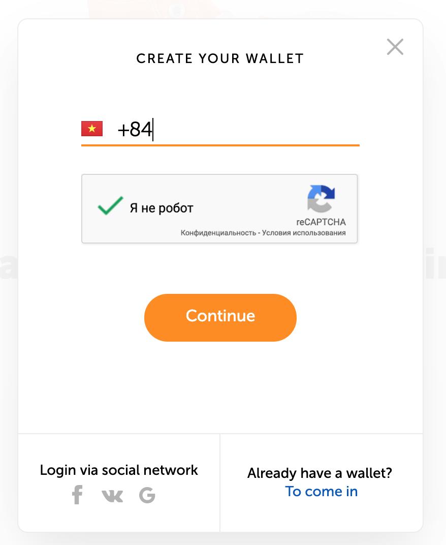 Đăng ký tạo ví Qiwi Wallet