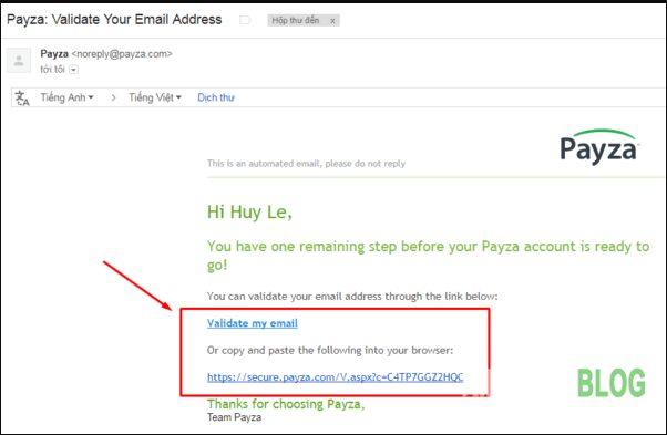 Hình 4. Xác nhận email