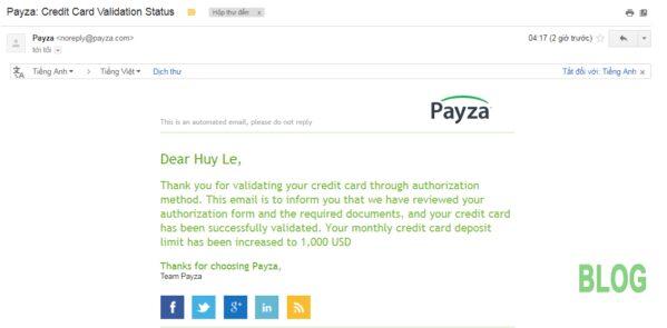 Hình 9. Hệ thống gửi email xác nhận tài khoản cho người dùng