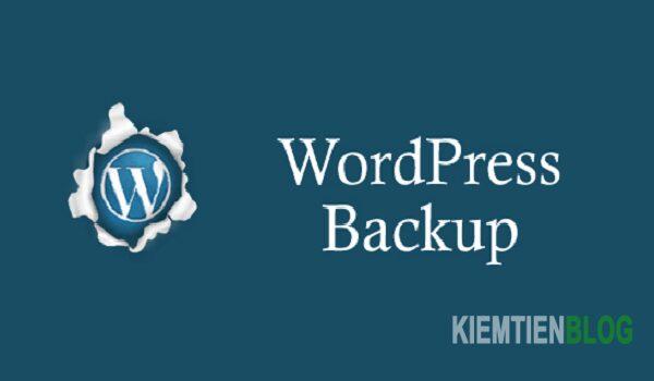 Hình 1. Backup đảm bảo phục hồi dữ liệu trên website